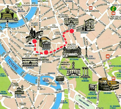 Rome Classic Tour Classic Tour Of Rome - Rome map in english with attractions