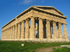 The temple of Neptune in Paestum