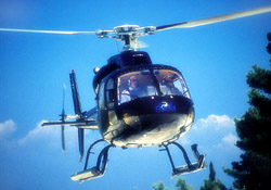 <b>The helicopter for the aerial tour in the Bay of Naples</b>