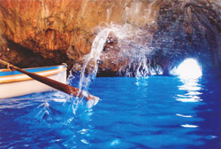 <b>Detail of the Blue Grotto of Capri</b>