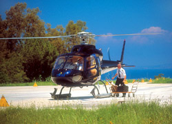 <b>Landing at Capri of our helicopter</b>