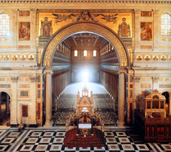 <b>View inside the Basilica of St. Paul's outside the walls</b>