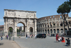 <b>The arch of Constantine in Rome</b>