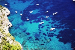 <b>Sea colour of Capri island</b>