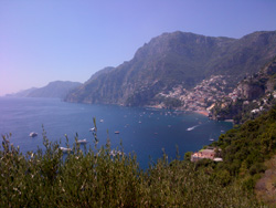 <b>Positano and a part of  the Amalfi Coast</b>