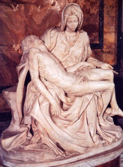 <b>Michelangelo's Pietà in the <br>Vatican Museums</b>