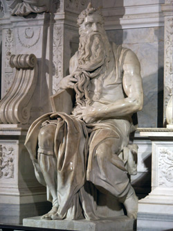 <b>Michelangelo's Moses in the church of Saint Peter in chains</b>