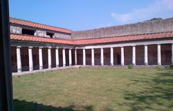 <b>A nice colonnade of the Villa of<br> Oplontis</b>