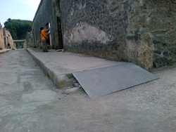 <b>Wheelchair ramp in Pompeii</b>