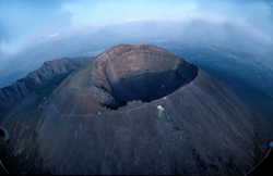 <b>Bird's eye view of Mt Vesuvius</b>