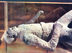 <b>Plaster cast in Pompeii</b>