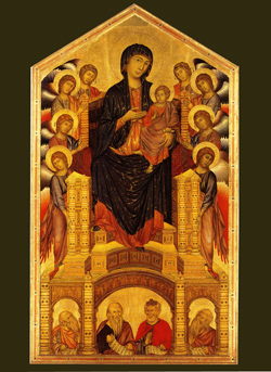 <b>Madonna and Child on the throne by Cimabue</b>