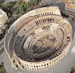 <b>Aerial view of the Coliseum, symbol of Rome </b>