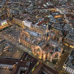 <b>The Duomo of Milan see from the above</b>