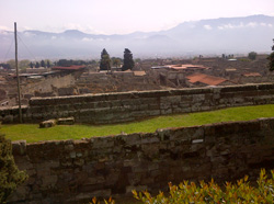 <b>View of Pompeii from the top of the city walls</b>