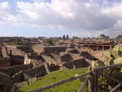 <b>Panoramic view of Pompeii</b>