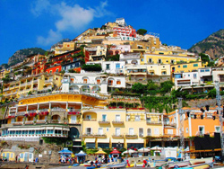 <b>View of Positano from the beach</b>