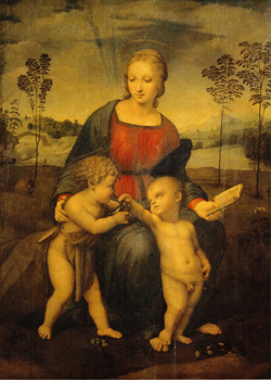 <b>Madonna and Child with the Infant Saint John by Raffaello </b>