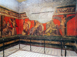 <b>The Room of the Mysteries in  Pompeii</b>
