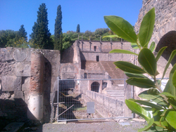 <b>View of a part of the theater in Pompeii</b>