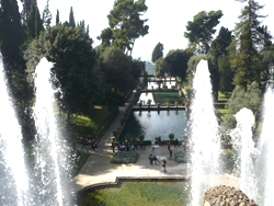 <b>A view of Villa D'Este in Tivoli</b>