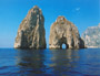 During our boat ride you can pass with your boat through the natural arch of the Faraglioni Rocks, symbol of the island