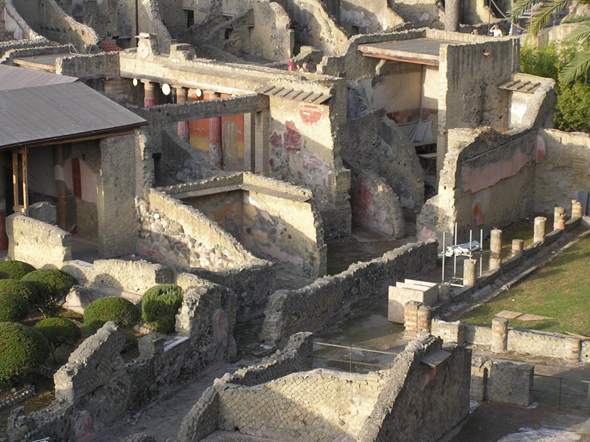 General view of Herculaneum ruins